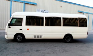 The Armored Group (TAG) recently completed armoring a Toyota Coaster Bus, suited to transport up to 30 people.