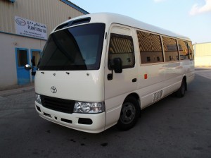Toyota Coaster Buss Uparmored 2
