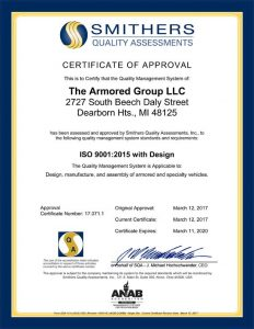 Smithers Quality Assessments Certificate Approval
