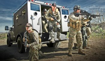 The BATT-S armored vehicle protects 8-12 officers at once
