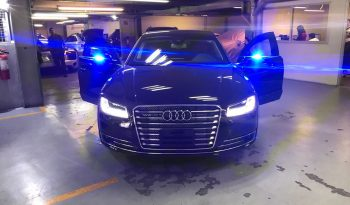 TAG 2015 Armored Audi A8 (VR9) Front Blue Light Doors Open