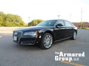 TAG 2015 Armored Audi A8L (VR9) Front Corner