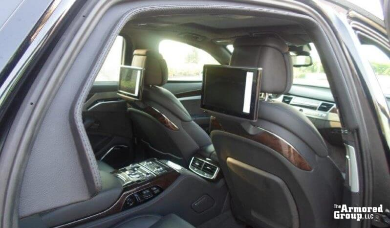 Screens inside Audi A8L W12 sedan