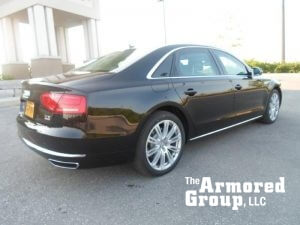 TAG 2015 Armored Audi A8L (VR9) Rear Corner