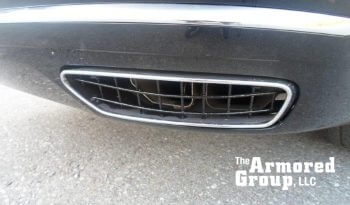 Picture of armored exhaust pipe protection on Audi A8L W12 sedan