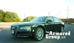 TAG Armored Audi Sedan Front Corner