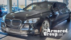 TAG Armored Vehicles BMW Limo Front Side Corner View