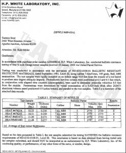 Certifications H.P. White Laboratory, Inc.