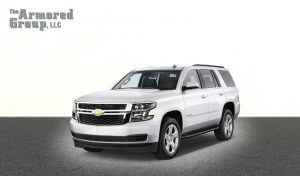 TAG Picture of armored Chevrolet Tahoe SUV