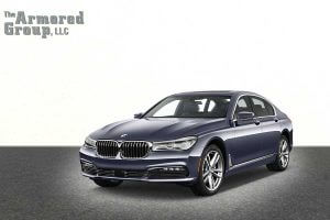 TAG Picture of armored BMW sedan with blast protection