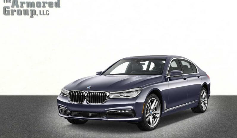 Picture of armored BMW sedan with blast protection