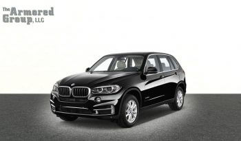 Black armored BMW X5 SUV with bulletproof glass picture