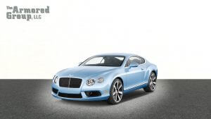 TAG Armored Bentley Continental sedan with hydraulic steering
