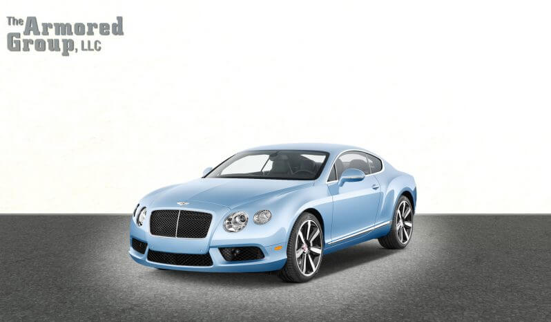 Armored Bentley Continental sedan with hydraulic steering