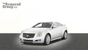 TAG Picture of armored Cadillac CTS sedan with bulletproof glass