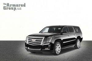 TAG Black armored Cadillac Escalade SUV picture