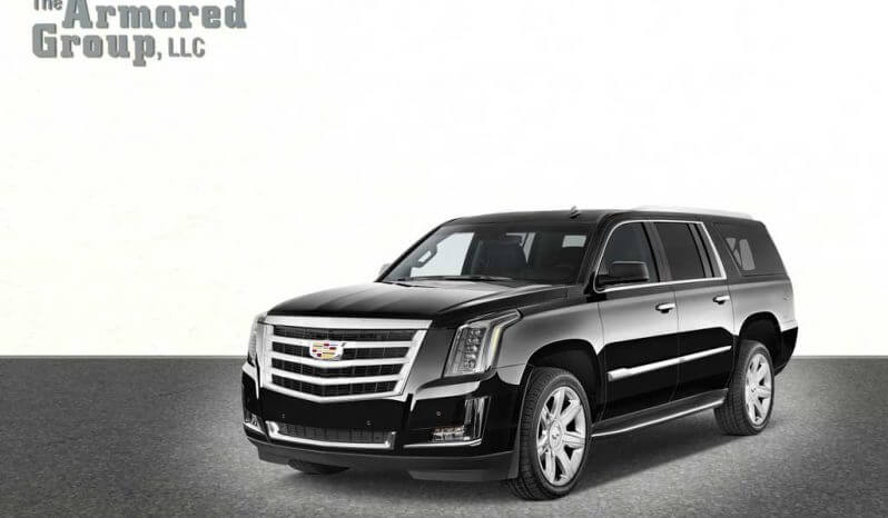 Armored Cadillac Escalade SUV black picture