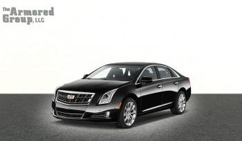 Picture of black armored Cadillac XTS sedan with 7-inch stretch