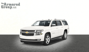 TAG White armored Chevrolet Suburban 1500 SUV picture