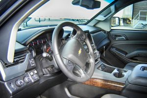 TAG Interior of Chevrolet Suburban 1500 tactical SUV picture