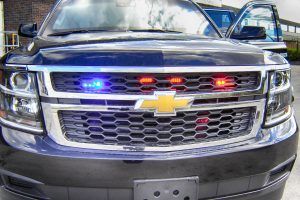 TAG Armored Chevrolet Suburban 1500 Front Grille Emergency Lights