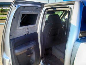 TAG Interior of bulletproof Chevrolet Silverado 1500 truck