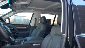 TAG Interior of Bulletproof Lexus LX570 SUV