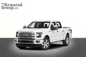 TAG White armored Ford F-150 truck picture