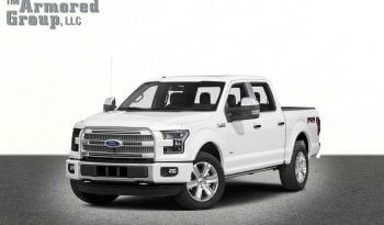White armored Ford F-150 truck picture