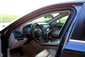 TAG Picture of armored BMW interior with bulletproof glass