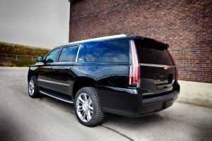 TAG Armored Cadillac Escalade Rear Corner