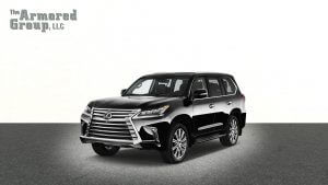 TAG Black armored Lexus LX570 SUV picture