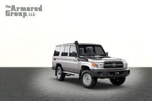 TAG Silver armored Toyota Land Cruiser (TLC) 76 Series cash-in-transit SUV picture