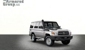 Silver armored Toyota Land Cruiser (TLC) 76 Series cash-in-transit SUV picture