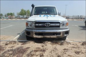 TAG Armored Toyota Land Cruiser 76 Series Front