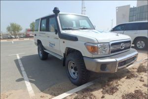 TAG Armored Toyota Land Cruiser 76 Series Front Cornerl