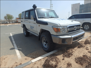 TAG Armored Toyota Land Cruiser 76 Series Front Corner