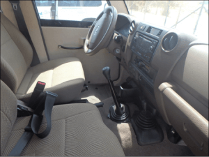 TAG Armored Toyota Land Cruiser 76 Series Front Seats Dashboard
