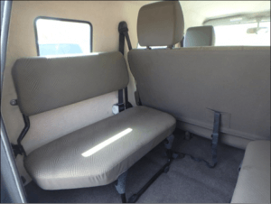 TAG Interior of bulletproof Toyota Land Cruiser (TLC) 76 Series cash-in-transit SUV