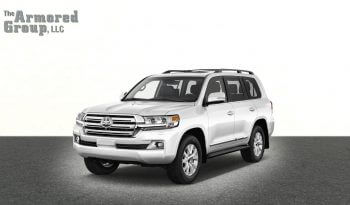 White armored Toyota Land Cruiser (TLC) 200 Series cash-in-transit vehicle picture