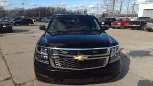 TAG Armored Chevrolet Tahoe Front Grille View Black Bullet Proof