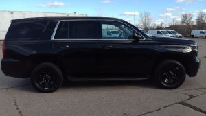 TAG Armored Chevrolet Tahoe Side View Black Bullet Proof