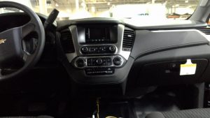 TAG Armored Chevrolet Tahoe Center Console Buttons Screen Dashboard View