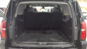 TAG Armored Chevrolet Tahoe Rear Hatch Open Cargo Interior Space