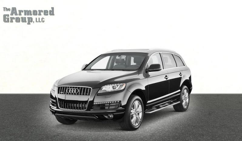 Black armored Audi Q7 luxury SUV picture