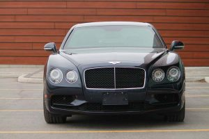 TAG Armored Bentley Flying Spur Series Front Grille View Headlights