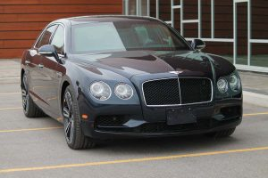 TAG Armored Bentley Flying Spur Series Front Corner View Headlights