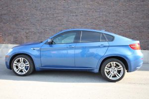 TAG Armored BMW X5 Side View Blue SUV