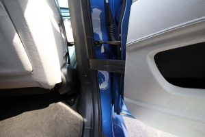 TAG Armored BMW X5 Interior View Backseat Door Open Hinge Bullet Proof Protection