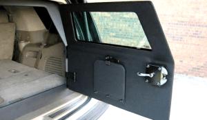 TAG 2010 Armored GMC Yukon Denali Rear Bullet Proof Door Open